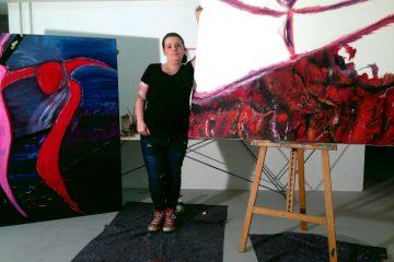 Manja McCade in ihrem Atelier in Leipzig. Foto: McCade