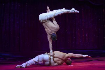 Das Duo Kvas -  Spitzensport der Extraklasse in einer faszinierenden Darbietung als akrobatische Kunst. Foto: Duo Kvas